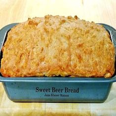 Sweet Beer Bread A VERY easy recipe and makes for a perfect side. Always a favorite! #sweetbeerbread #baking #sides #easyrecipe