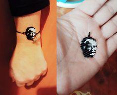 Kendi tasarımım Atatürk bileklik kolye. İnstagram @seralmaca