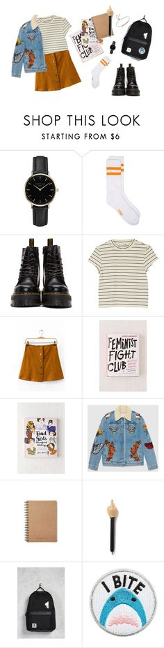 """Untitled #6"" by aqiilanf on Polyvore featuring ROSEFIELD, Dr. Martens, Monki, Urban Outfitters, Gucci, Forever 21, Skinnydip and Monica Vinader"