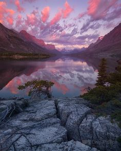 St. Mary Lake, Glacier National Park in Montana