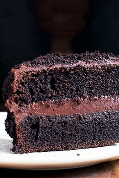 """Chocolate Fudge """"Blackout"""" Cake Recipe - taking the Solar Eclipse as a mandatory reason to bake our decadent, deep, dark Brooklyn Blackout Cake"""