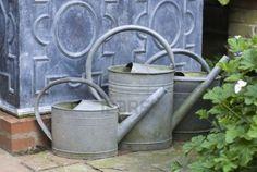 English garden watering cans, UK September 2010 Stock Photo - 9458360
