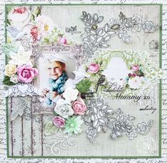 November BAP layout by Steph Devlin  for Prima using journal notecards and Rosarian collection