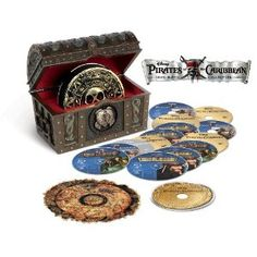 Pirates of the Caribbean Four-Movie Collection (Blu-ray + Digital Copy)... want this set.