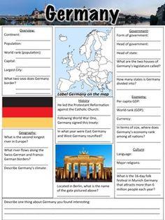 Germany Worksheet