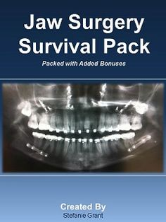 Ultimate Orthognathic Surgery Patient Pack! http://www.jawandface.co.uk/jaw-surgery-survival-pack/