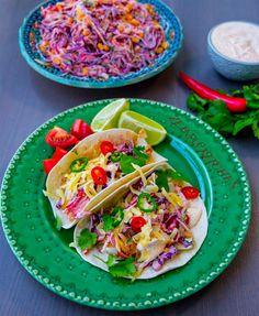 Fisktacos med dressing & mexikansk coleslaw - ZEINAS KITCHEN