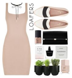 """Loafers"" by janicevc on Polyvore featuring Kate Spade, Diane Von Furstenberg, NARS Cosmetics, Herbivore, Yves Saint Laurent, Authentics, Narciso Rodriguez, Byredo, Charlotte Russe and beige"