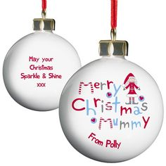 Personalised Merry Christmas Mummy Bauble  from Personalised Gifts Shop - ONLY £10.99