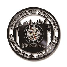 The Lord of the Rings Vinyl Record Wall Clock Creative Handmade Antique Hollow Record Hanging Clock Classic Home Decor Radagast The Brown, Wall Clock Price, Medieval Fair, Hanging Clock, An Unexpected Journey, Record Wall, Classic Home Decor, My Precious, Lord Of The Rings