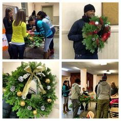Host a wreath decorating night at a local non-profit!