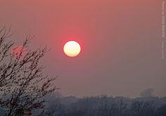 Hazy Sunset in Olathe, KS