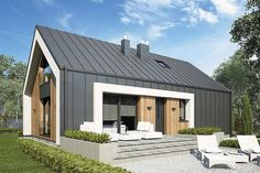 House Helpful Techniques For modern home design living room House Cladding, Facade House, Modern Barn House, Modern House Design, Shed Homes, Prefab Homes, Contemporary Architecture, Architecture Design, Modern Farmhouse Exterior