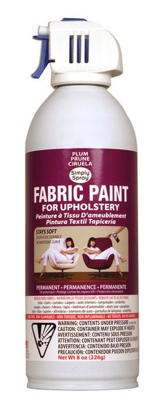 Upholstery Fabric Paint! Freeeee to change the color of our furniture now!