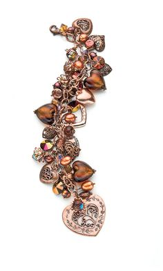 Jewelry Design - Bracelet with Swarovski Crystal Beads, Glass Beads, Pearls and Copper Beads - Fire Mountain Gems and Beads