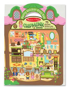 Puffy Sticker Play Set: Chipmunk House | Party Favors | Melissa and Doug