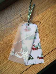 Stampin Up UK Demonstrator UK Pegcraftalot Order Stampin Up HERE: Cozy Christmas and Home for Christmas Tag Más Christmas Paper Crafts, Christmas Projects, Handmade Gift Tags, Holiday Gift Tags, Cozy Christmas, Card Tags, Xmas Cards, Homemade Cards, Making Ideas