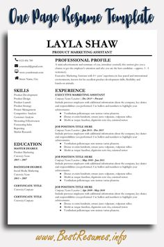 223 Best Resume Templates For Google Docs Images In 2019