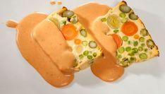 Receta de Pastel de verduras con bechamel de tomate #verduras