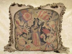Stunning 19th Century Needlepoint Tapestry by antiquepillowsrus