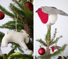 felt bird tree topper