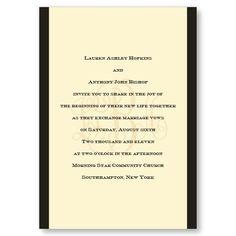 Classic Monogram Wedding Invitations by TheAmericanWedding.com