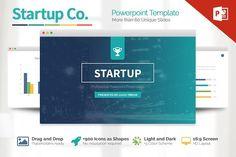 Startup Powerpoint Template by Slidedizer on @creativemarket