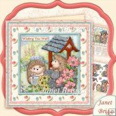 Wishing Well Hedgehogs 8x8 Decoupage Kit All Occasions