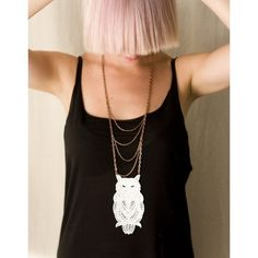 love this huge lace owl - statement piece!