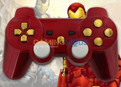 """Iron Man"" Playstation 3 Modded Controller is a perfect gift for a special gamer in your life! All of GamingModz.com PS3 modded controllers are compatible with every major game on the market today. If you decide to get one of our Xbox 360 or Playstation 3 modded controllers, your gaming experience will increase, overall performance will rise and it will allow you to compete against more experienced players. Watch the video now: http://youtu.be/Vxvsf8twW0s"