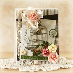 Lovely, softly romantic card using Glitz papers- from Just Give Me Stamps blog