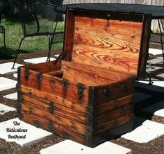 How to Refinish a Wooden Steamer Trunk - You won't believe the way this looked before being refinished!