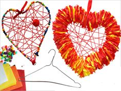 Hanger Heart Craft from PBS Parents.