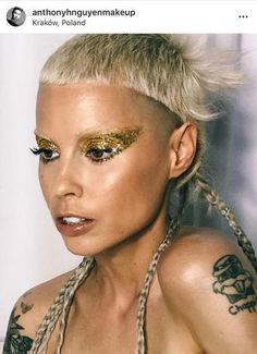 Punk Makeup, Rave Makeup, Edgy Makeup, Simple Makeup, Makeup Inspo, Beauty Makeup, Vogue Makeup, Creepy Makeup, Doll Makeup