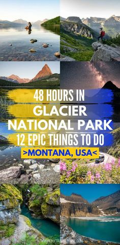 Montana Glacier National Park, Waterton Lakes National Park, Us National Parks, West Glacier Montana, Cumberland Gap National Park, Montana Lakes, American National Parks, National Park Camping, Badlands National Park