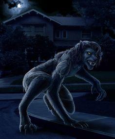 Werewolf Photomanipulation by nudge1.deviantart.com on