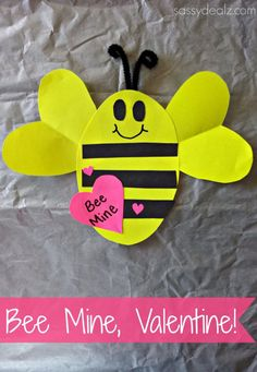 """Bee Mine"" Valentine's Day Craft For Kids - Sassy Dealz"