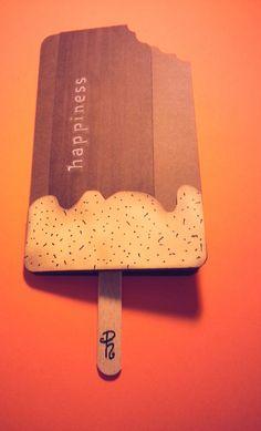 card biglietto segnalibro gelato cremino per ogni occasione : Biglietti di chiara-scrapchic