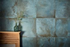 Our Verdigris Porcelain tiles replicate the blue green patina formed on copper by oxidation. View this & more porcelain tiles & flooring at Mandarin Stone - buy online or order a sample. Stone Bathroom, Bathroom Floor Tiles, Downstairs Bathroom, Family Bathroom, Conservatory Kitchen, Tiny Powder Rooms, Mandarin Stone, Large Format Tile, Glass Brick