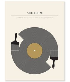 She & Him poster by my favorite poster designer, Jason Munn