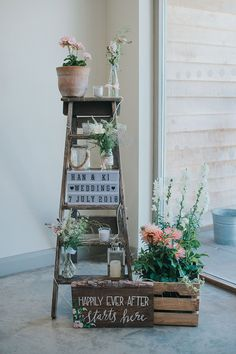 Wooden Crates Ladder Decor Flowers Houchins Farm Wedding Julia and You Photograp. Wooden Crates Ladder Decor Flowers Houchins Farm Wedding Julia and You Photograp. Wedding Venue Decorations, Wedding Table Centerpieces, Wedding Table Numbers, Wedding Venues, Wedding Ceremony, Centerpiece Flowers, Centerpiece Ideas, Marquee Decoration, Garden Decorations