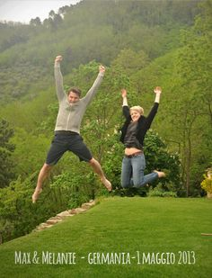 Max & Melanie jump for Forestaria B and Organic Farm in Lucca