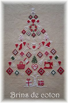 Cross Stitch Chart Christmas Tree -- would love to know the designer so I could get my hands on the pattern.