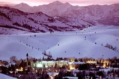 Sun Valley, Idaho. Who doesn't love a good ski trip?