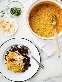 Coconut Curried Lentils.