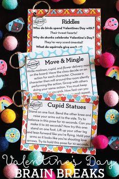 12 FREE Valentine's Day Brain Breaks!