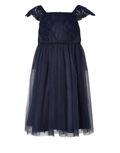Estella Ballgown Dress | Navy | Monsoon