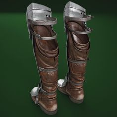 model of medieval armour boots Viking Armor, Medieval Armor, Armor Boots, Medieval Boots, Armor Tattoo, Norse Tattoo, Viking Tattoos, Knight Models, Dragon Armor