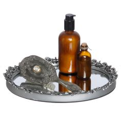 Antique Silver Oval Resin Mirror Tray | Overstock™ Shopping - The Best Prices on Other Bath Accessories