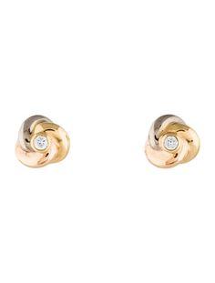 Cartier Trinity De Diamond Earrings